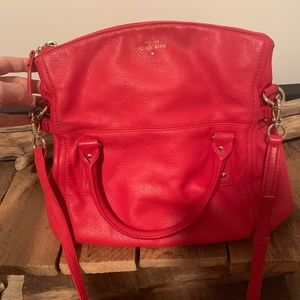Kate Spade Red Leather Handbag Purse